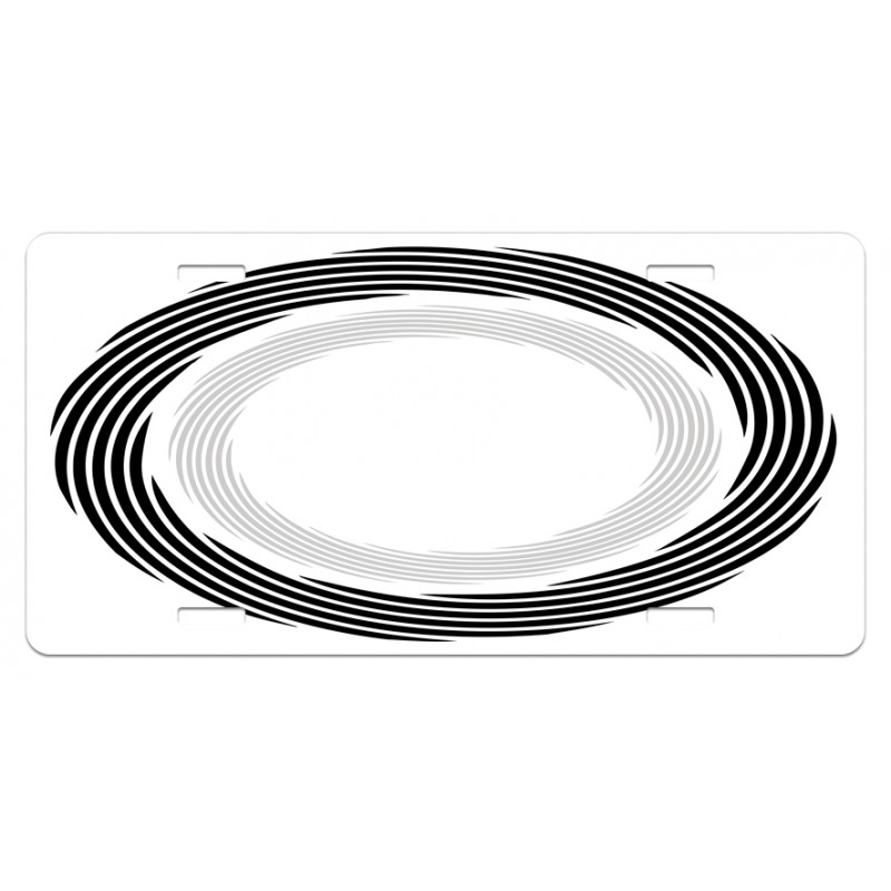 Abstract Art Theme White License Plate