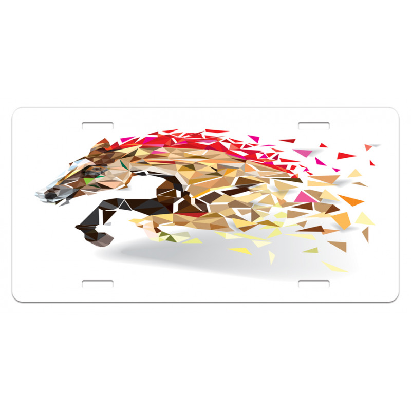 Abstract Art Wild Horse License Plate