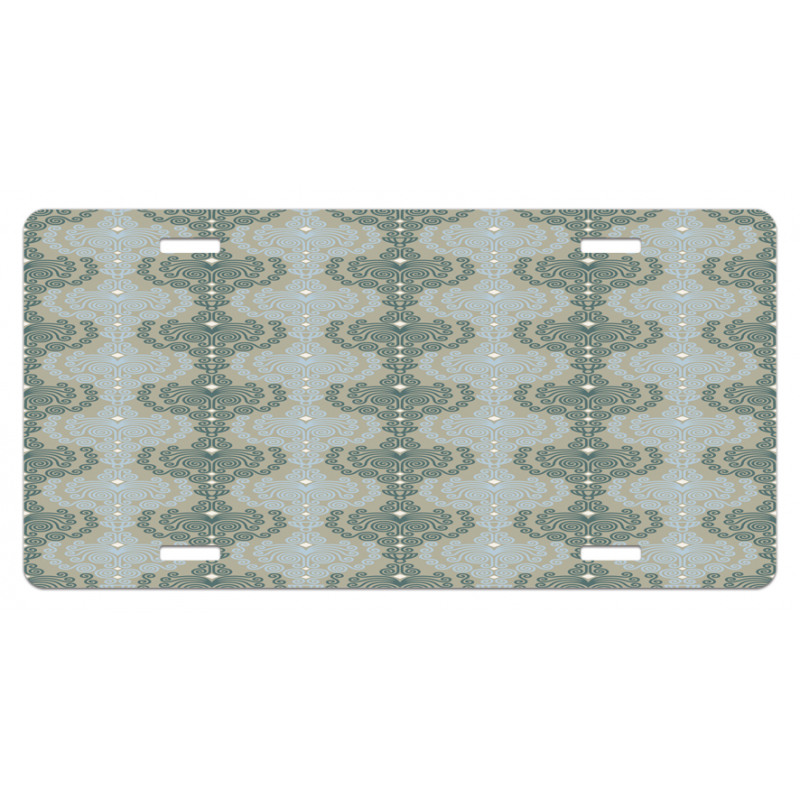 Abstract Art Floral License Plate