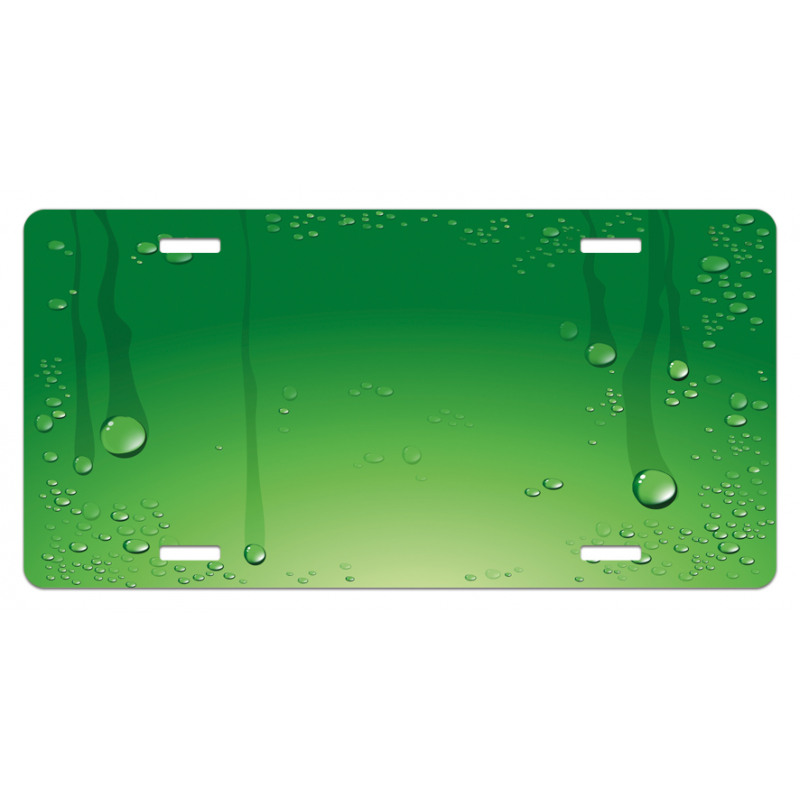Abstract Art Water Drops License Plate