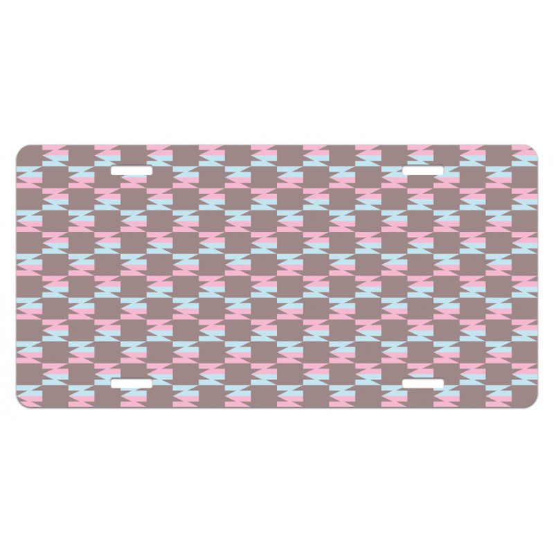 Abstract Arrow Design License Plate