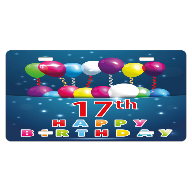 17 Birthday License Plate