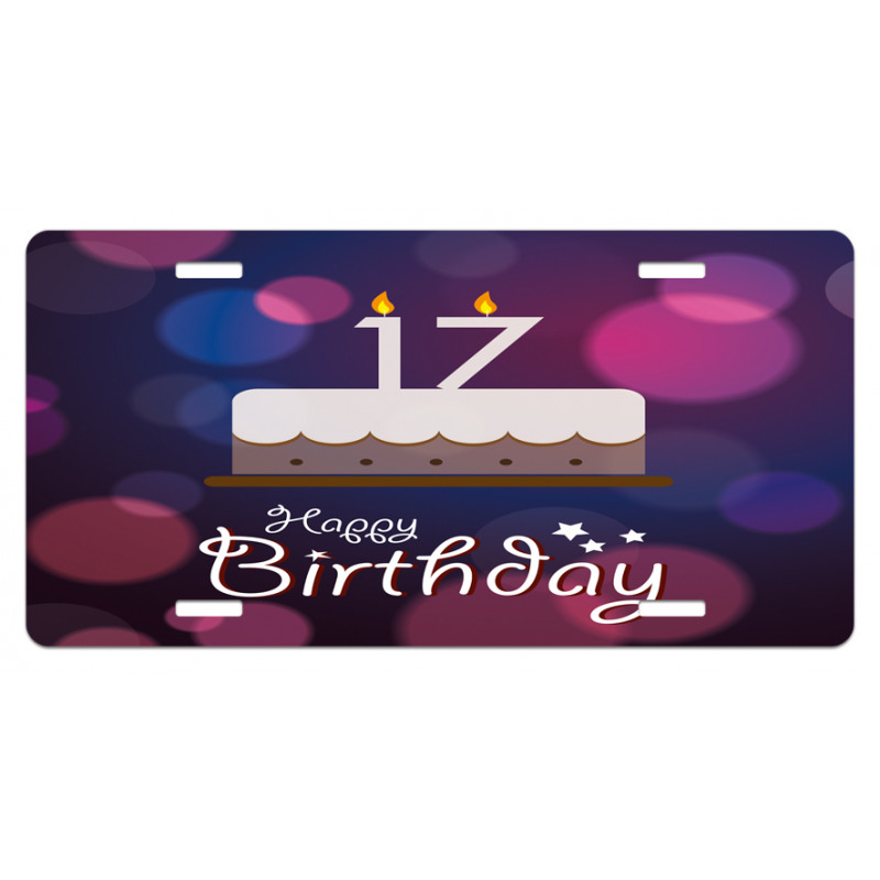17 Party Cake License Plate