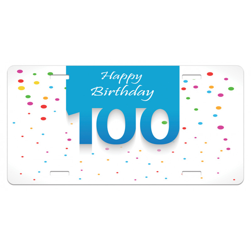 100 Years Birthday License Plate