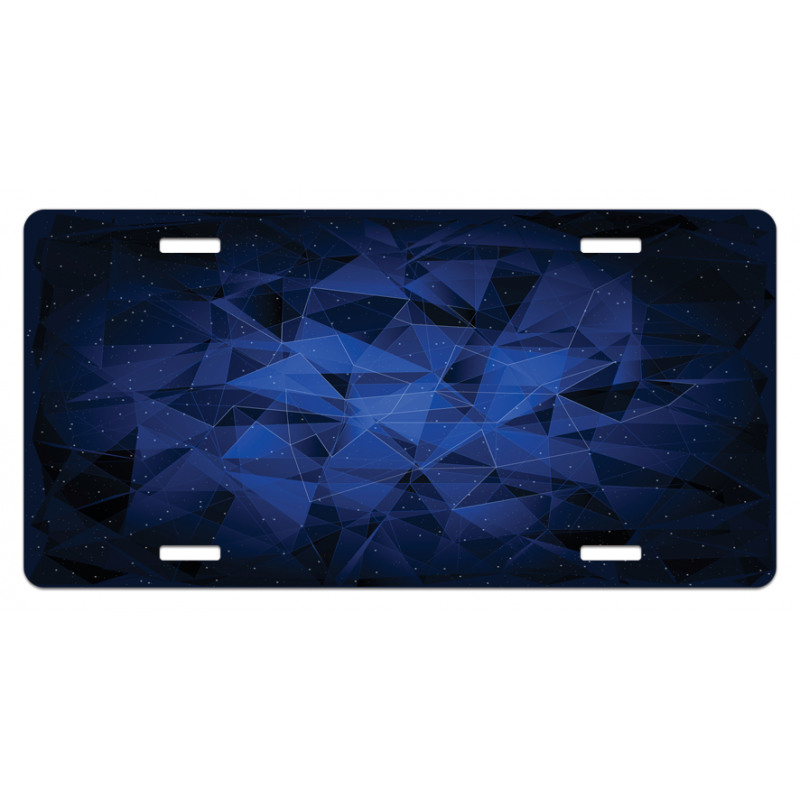 Abstract Atomic Stars License Plate