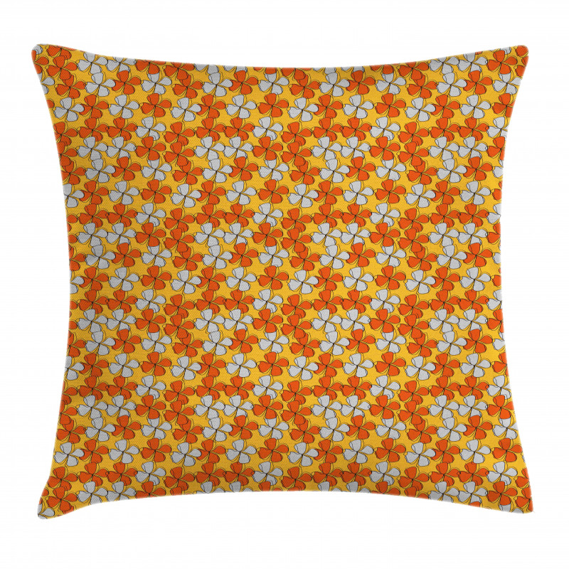 Abstract Autumn Flora Pillow Cover