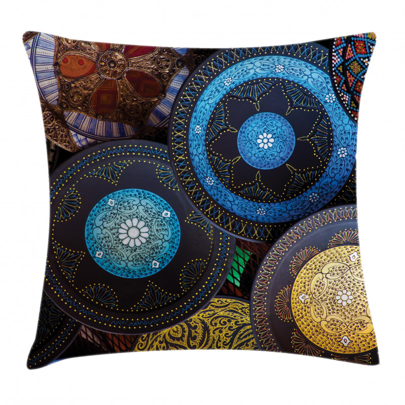 Old Touristic Places Pillow Cover