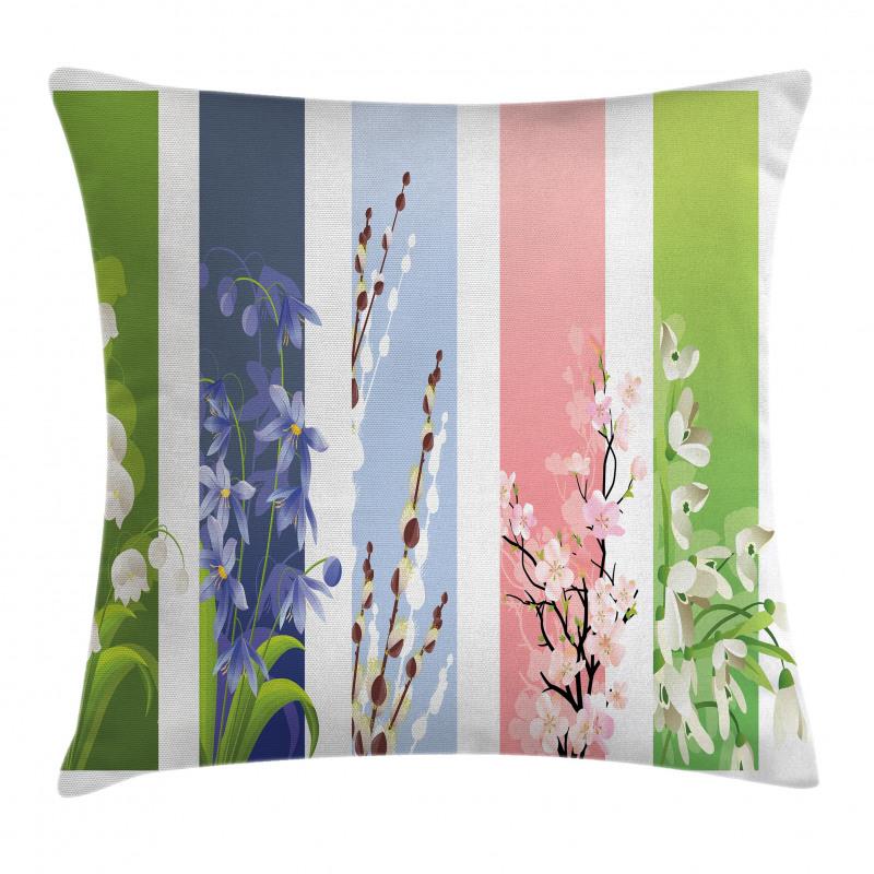 Bahar Minder Kılıfı Rengarenk Çiçek Desenli