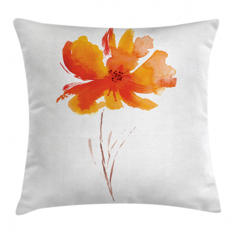 Romantic Poppy Pillow Cover