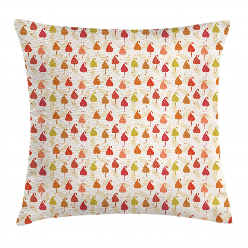 Abstract Autumn Leaf Art Pillow Cover