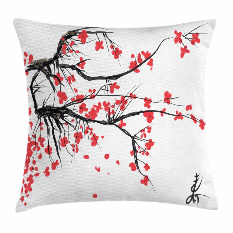 Watercolor Summer Garden Pillow Cover