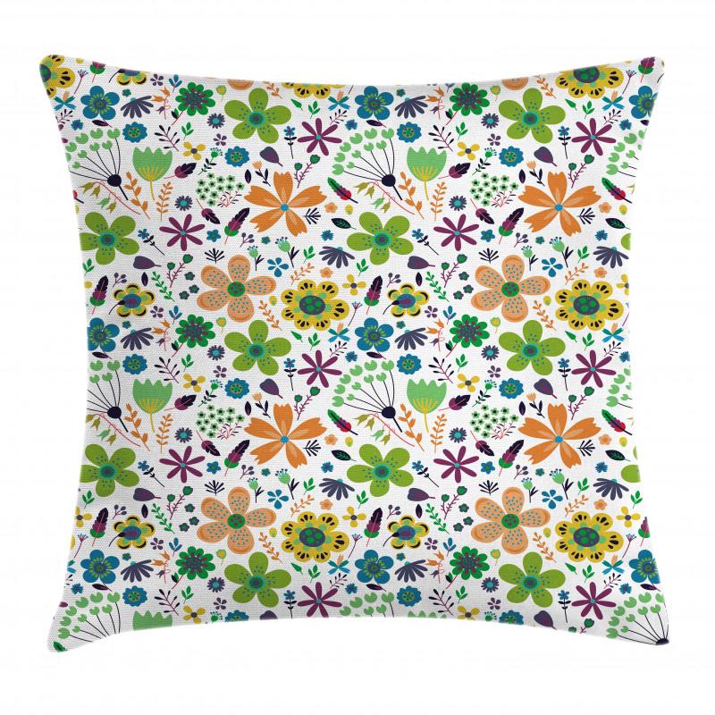 Bahar Minder Kılıfı Rengarenk Modern Çiçek Yaprak Dal Tasarımı