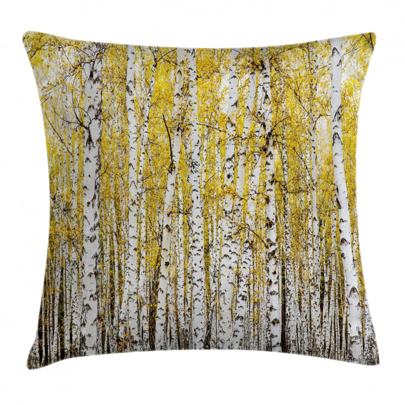 Forest Golden Leaves Pillow Cover