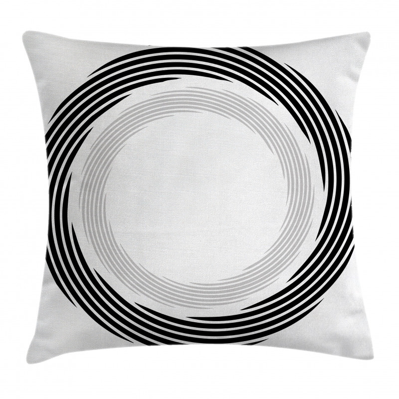 Abstract Art Theme White Pillow Cover