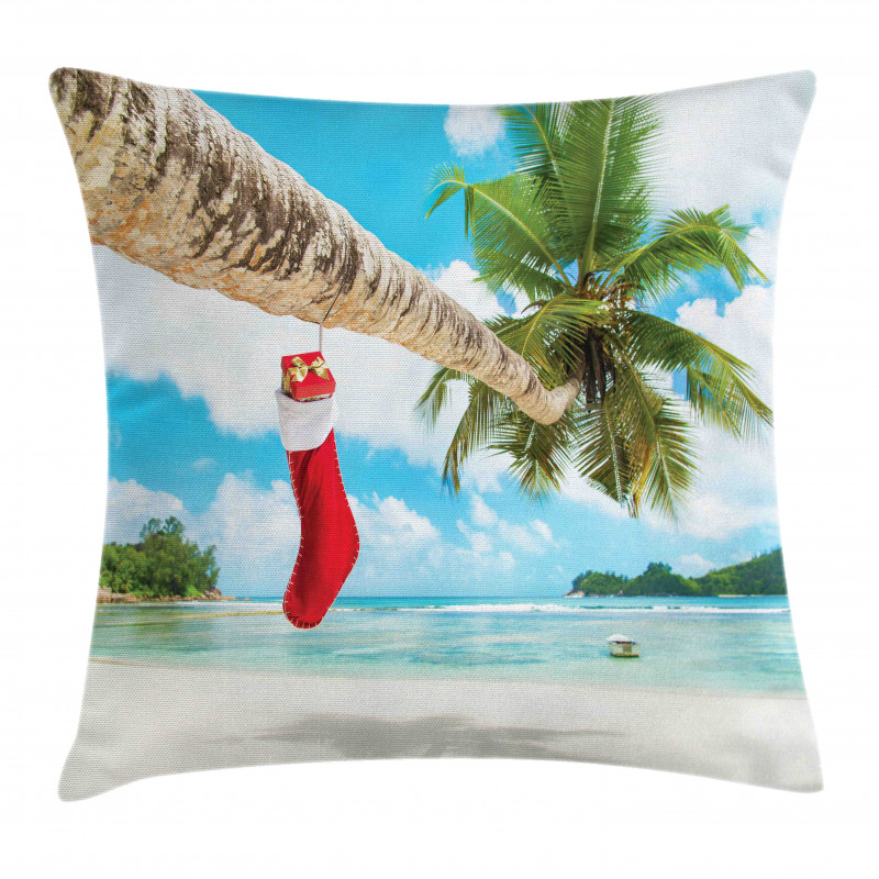 Beach Xmas Stockings Pillow Cover
