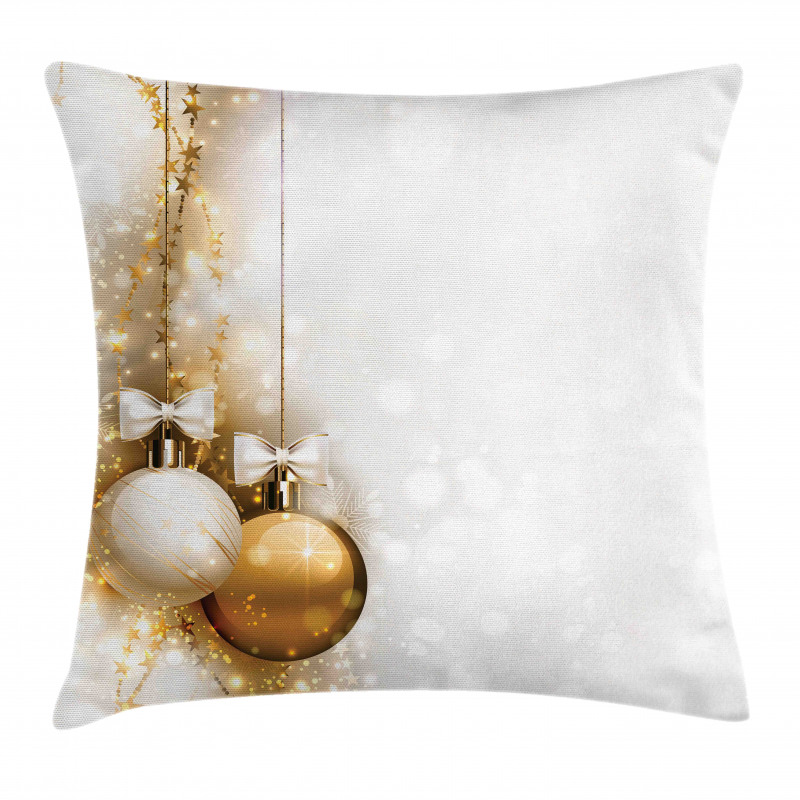 New Years Ribbon Pillow Cover