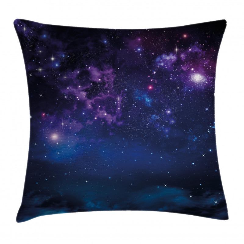 Milky Way Themed Stars Pillow Cover