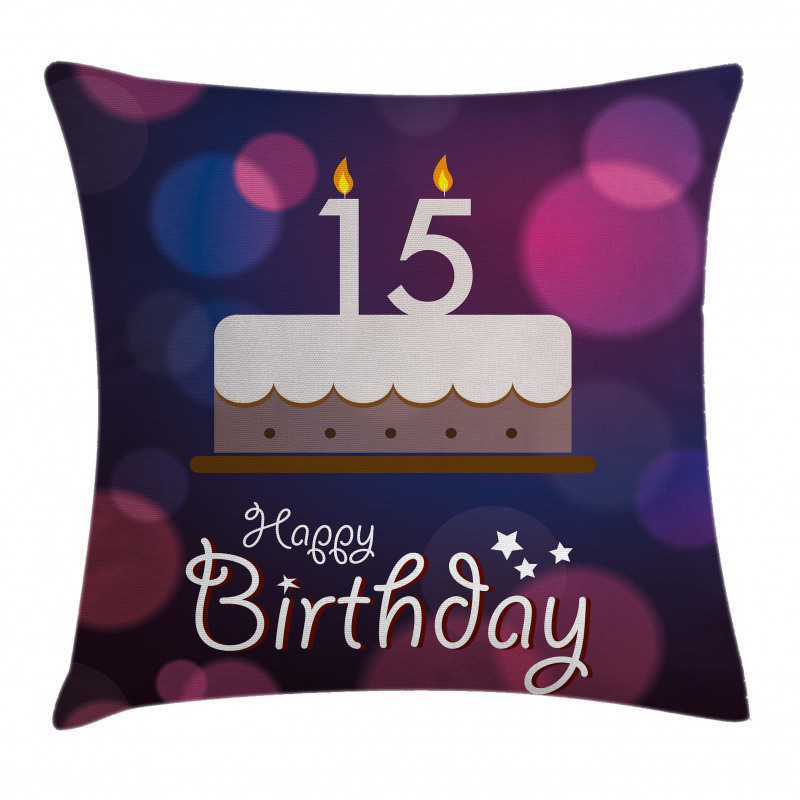 15 Birthday Cake Pillow Cover