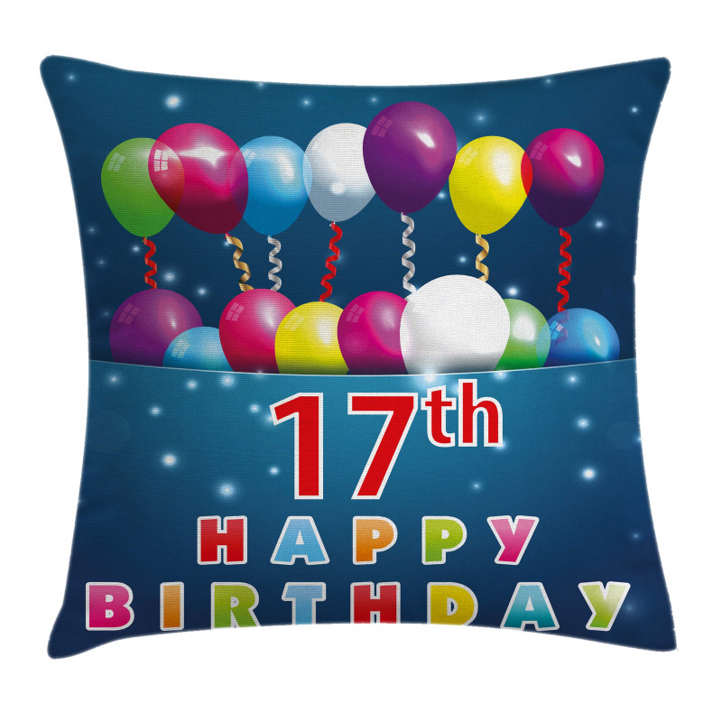 17 Birthday Pillow Cover
