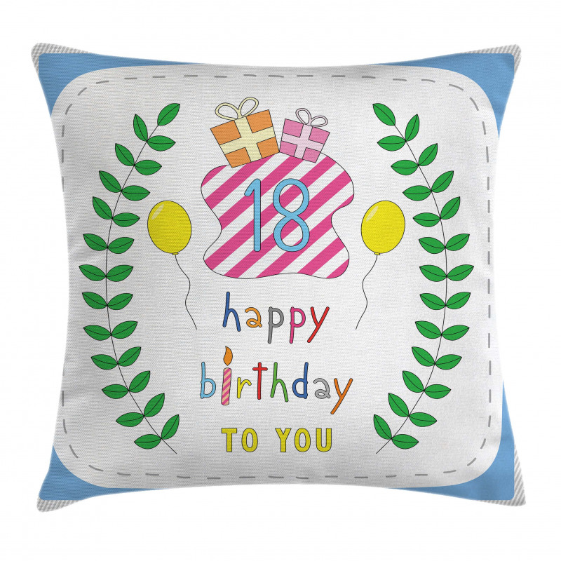 18 Birthday Pillow Cover