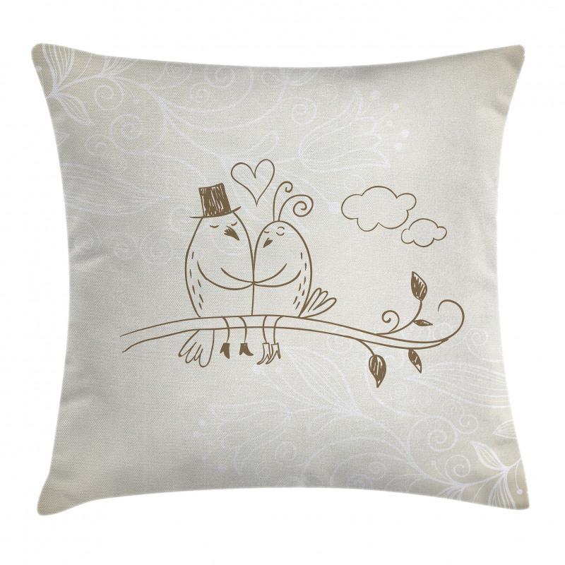 2 Birds Love Pillow Cover
