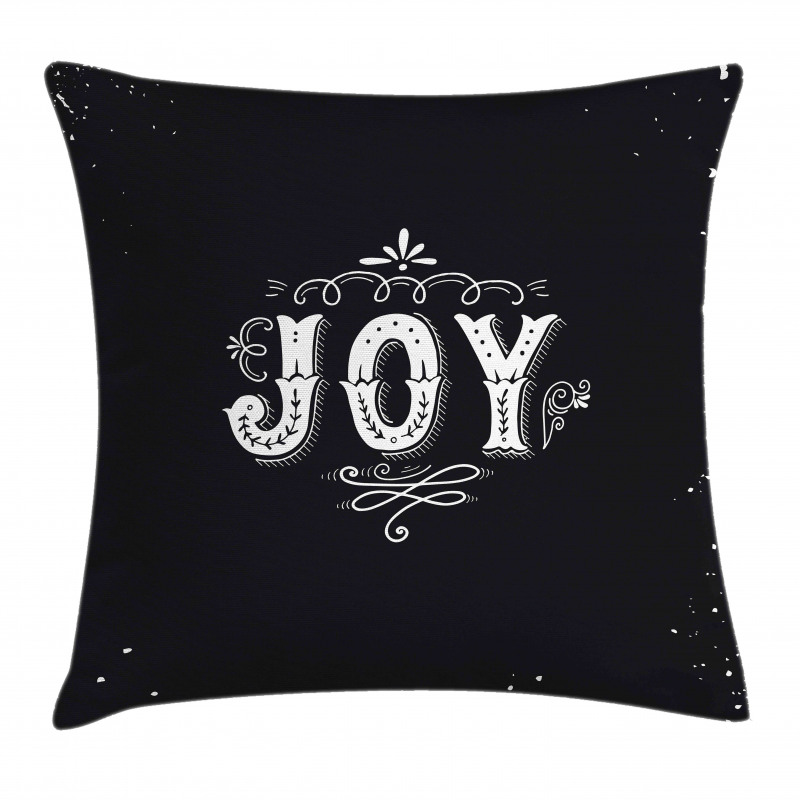 Retro Style Ornate Words Pillow Cover