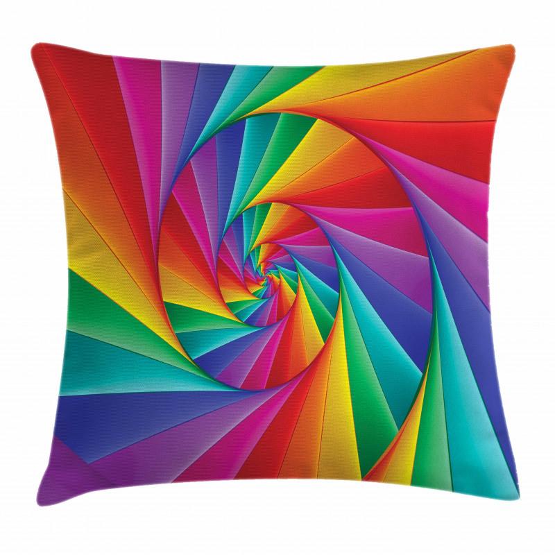 Abstract Art Vivid Swirl Pillow Cover
