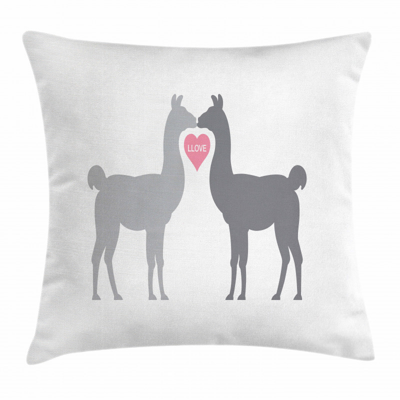 2 Animals in Love Pillow Cover