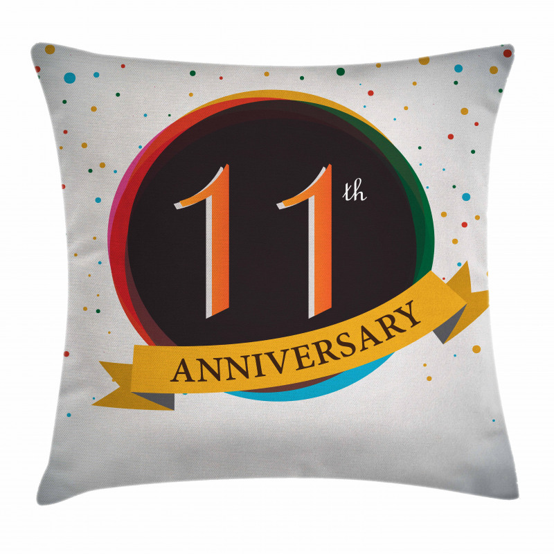 11 Year Retro Style Pillow Cover