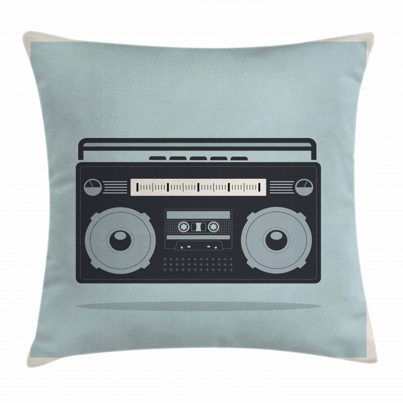 1980s Boombox Image Pillow Cover