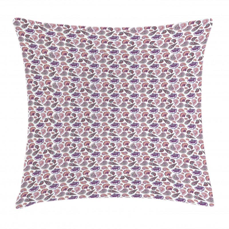 Tropical Beach Seashells Pillow Cover