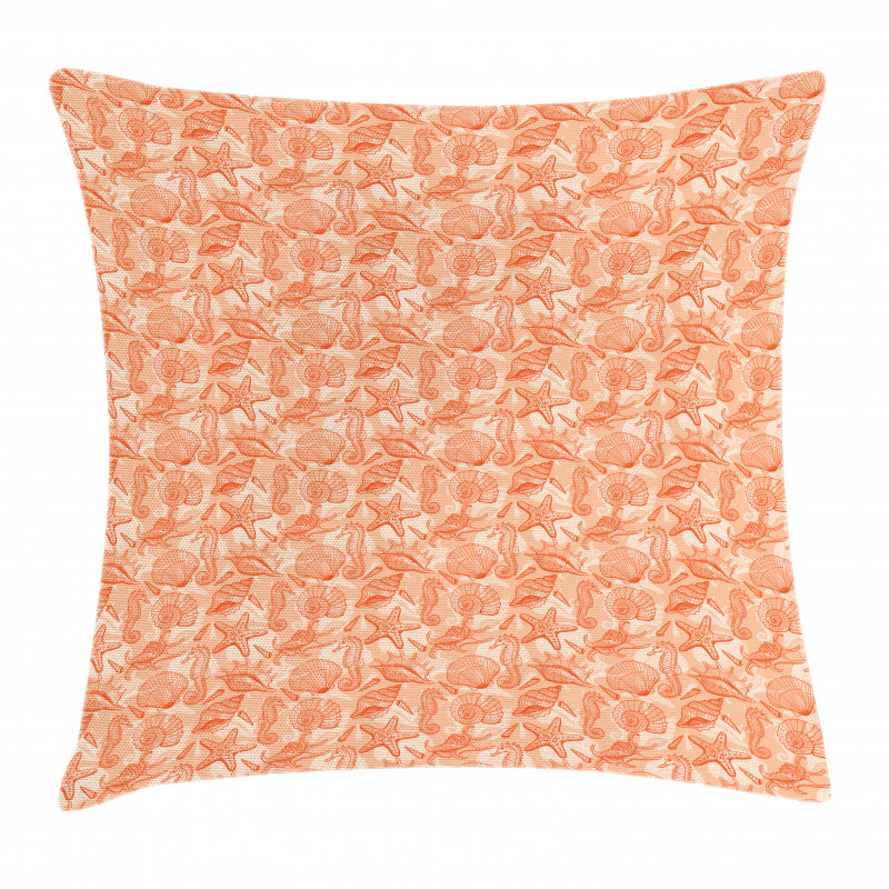 Scallops and Lace Murex Pillow Cover