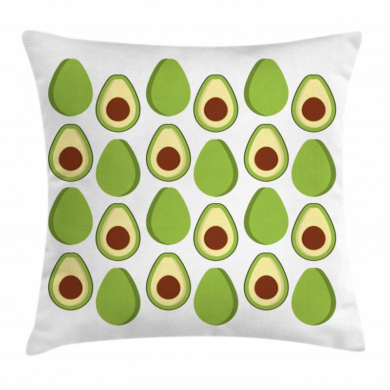 Avokado Minder Kılıfı Sağlıklı Meyvenin İçi ve Dışı Tekrarlı