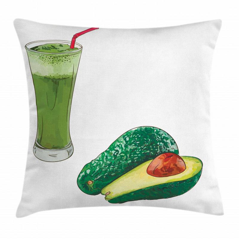 Avokado Minder Kılıfı Sağlıklı Meyve ve Ondan Yapılmış İçecek