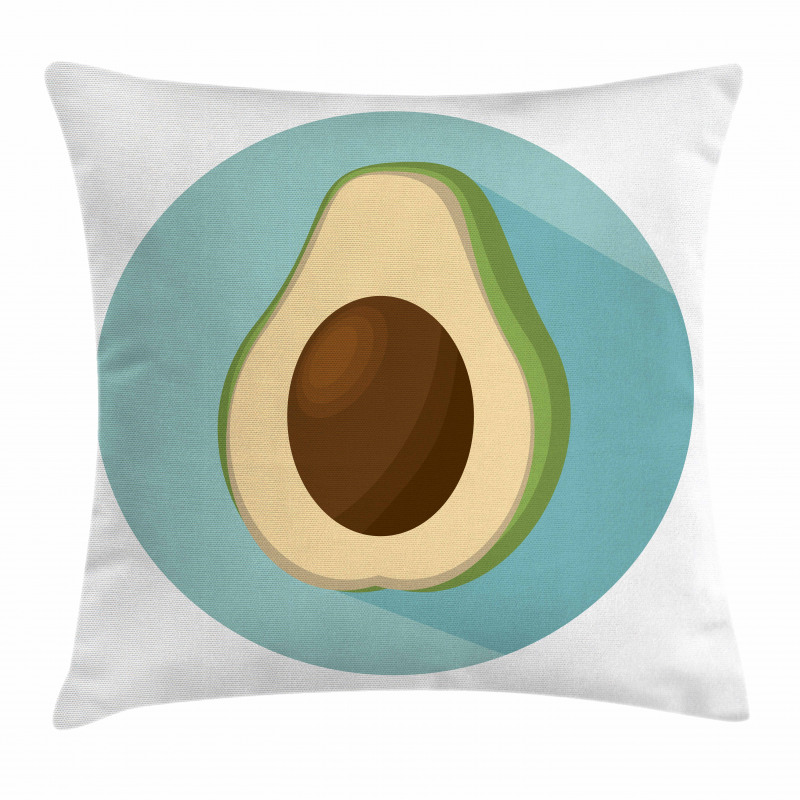 Avokado Minder Kılıfı Sade Arka Plan Üzerine Sağlıklı Meyve Model