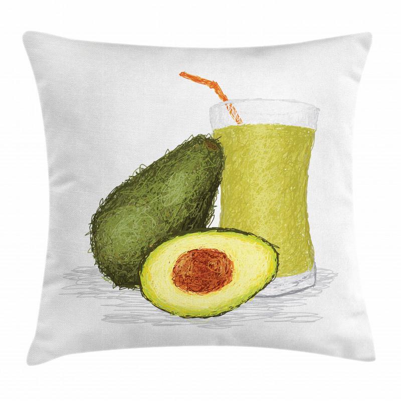 Avokado Minder Kılıfı Sağlıklı Meyve ve Suyundan İçecek Model