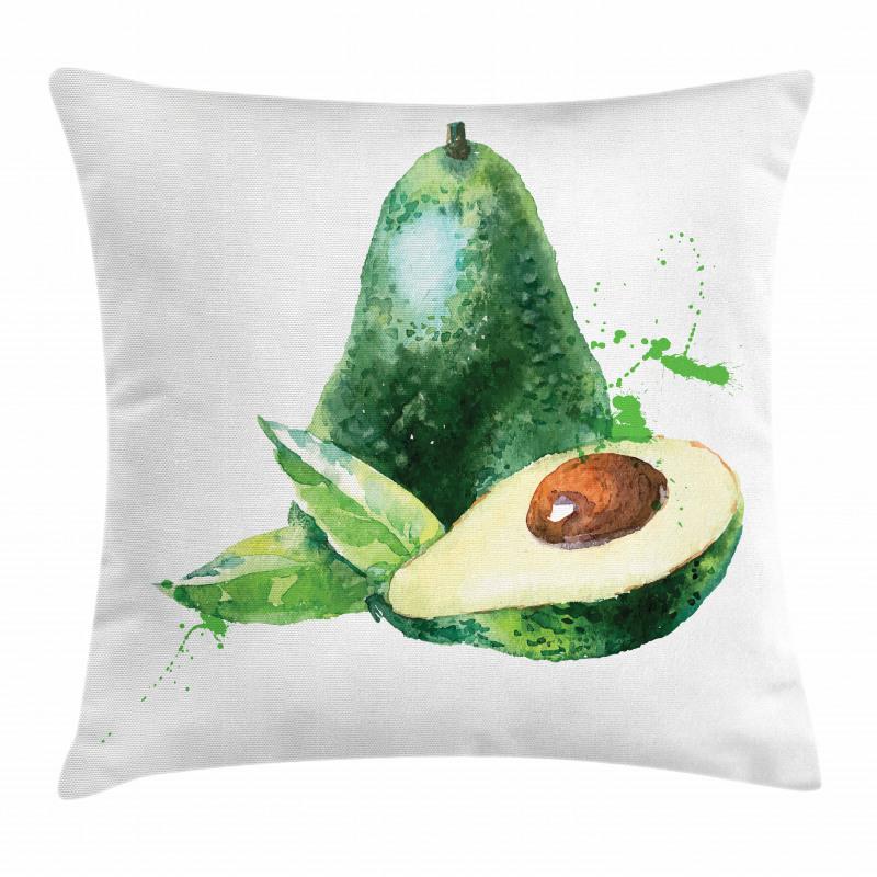 Avokado Minder Kılıfı Sulu Boya Tarzında Açılmış Meyveler Model