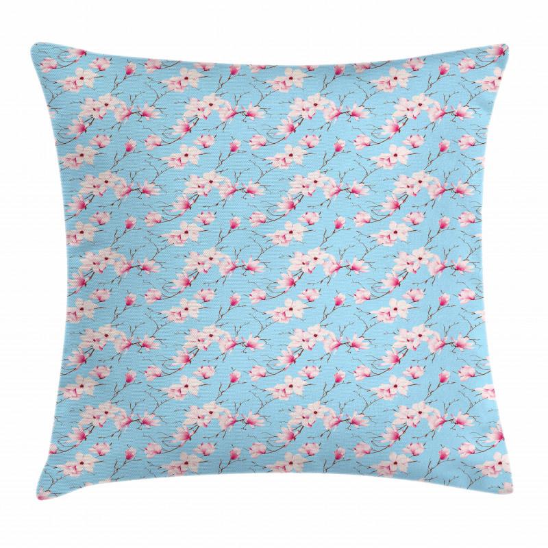 Spring Season Branches Pillow Cover