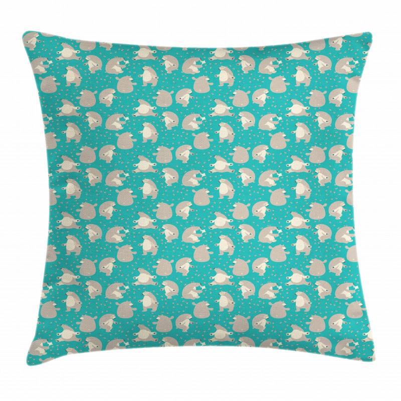Funny Animals and Bees Pillow Cover