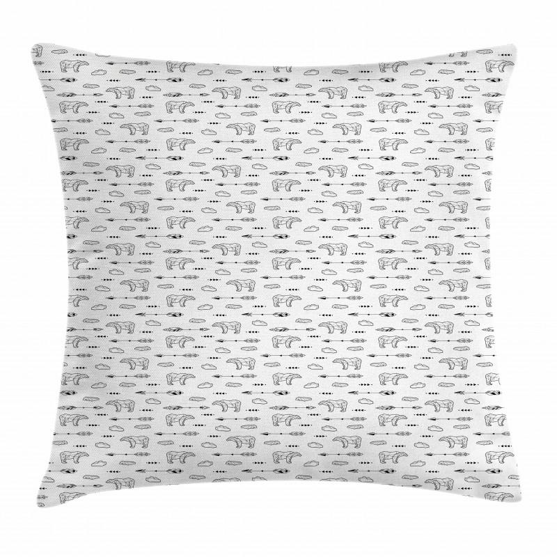 Tribal Arrows Arctic Pillow Cover