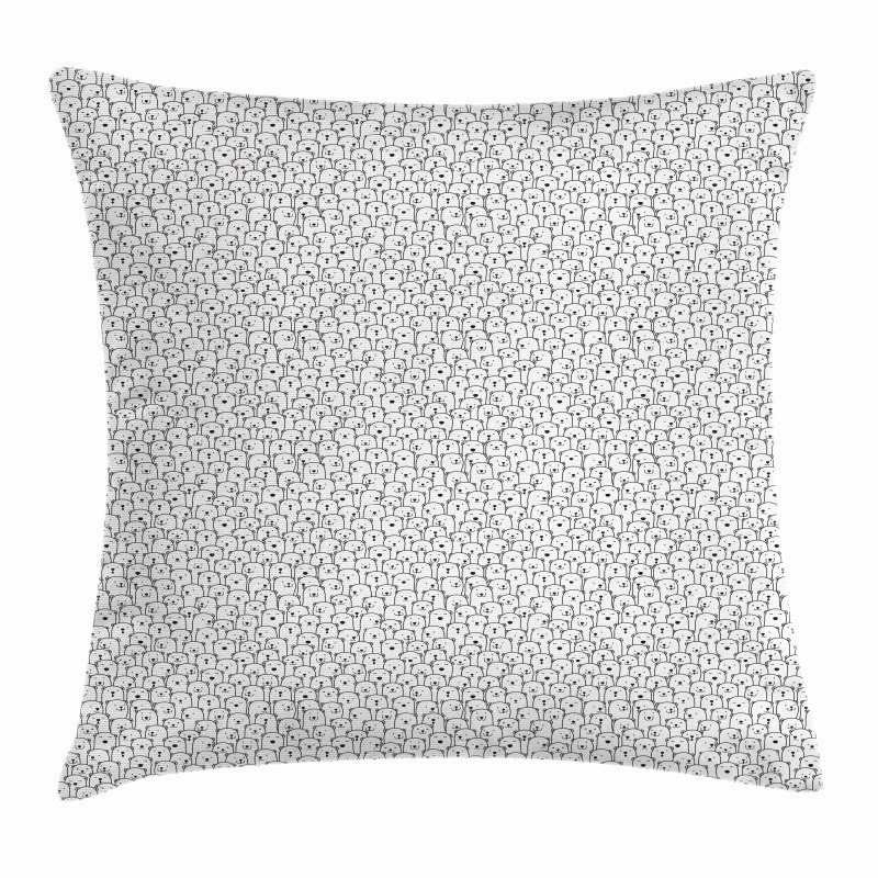 Arctic Animal Crowd Pillow Cover