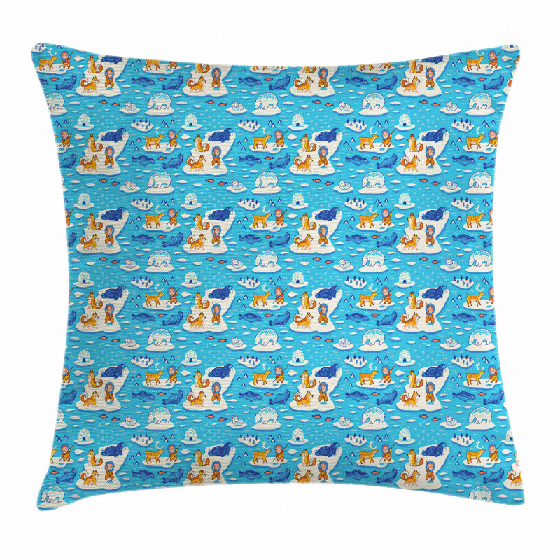 North Pole Icy Ocean Pillow Cover