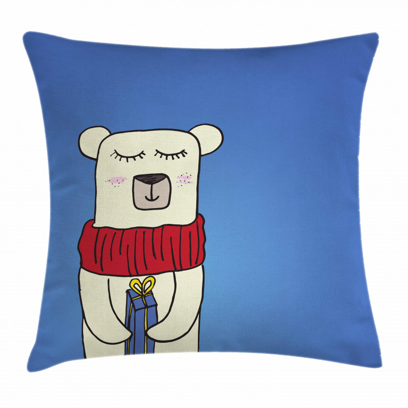 Merry Xmas Cartoon Pillow Cover