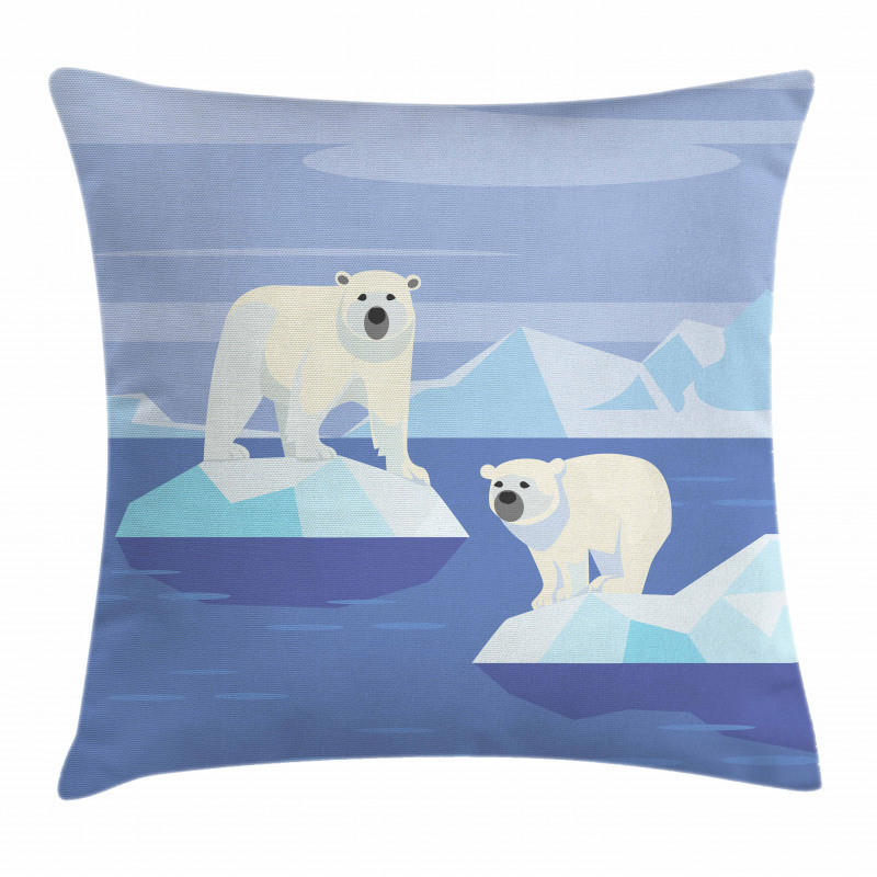 Icy Rocks Habitat Pillow Cover