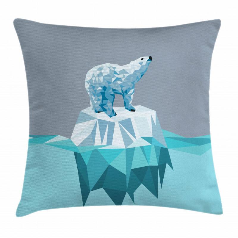 Fractal Bear Iceberg Pillow Cover