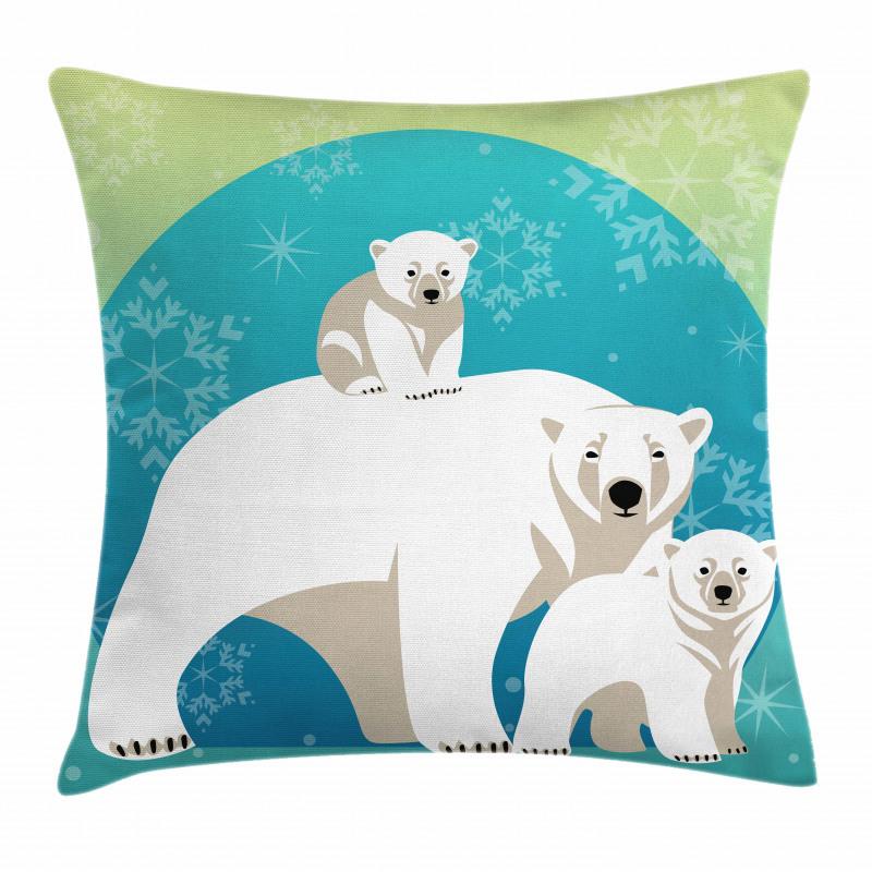Noel Ice Land Family Pillow Cover