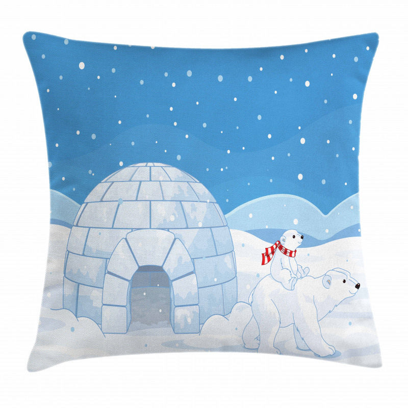 Mom Child Igloo Pillow Cover