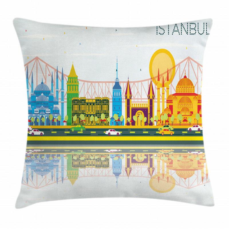 Cultural Landmarks Pillow Cover