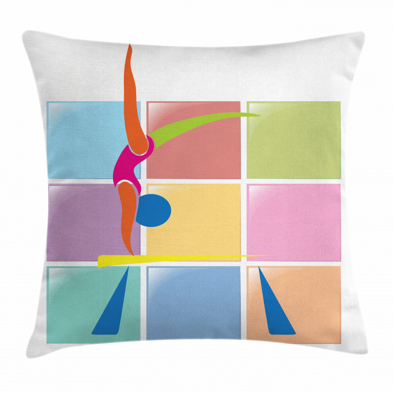 Abstract Athlete Pillow Cover