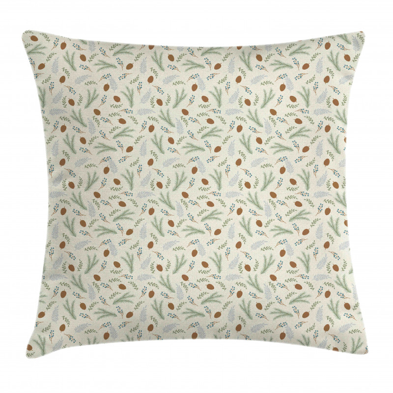 Fir Cones Botany Branches Pillow Cover